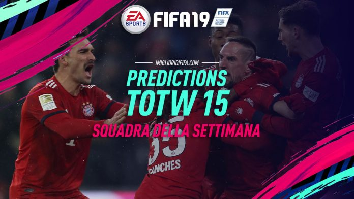 Prediction TOTW 15 FIFA 19