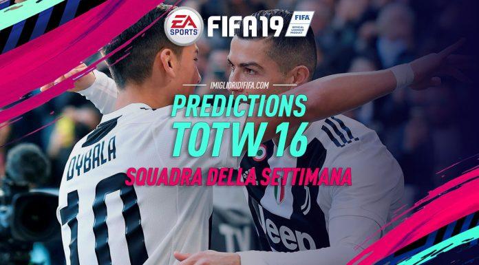 TOTW 16 Prediction FIFA 19