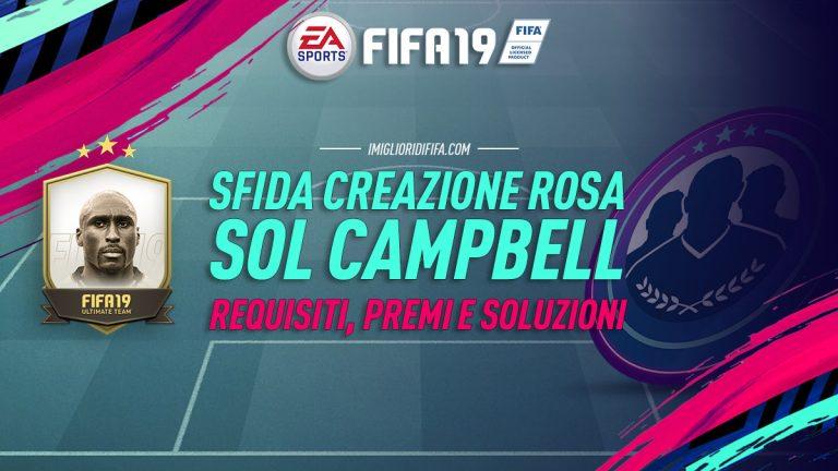 Fifa 19: SBC Sol Campbell Prime – Requisiti, premi e soluzio