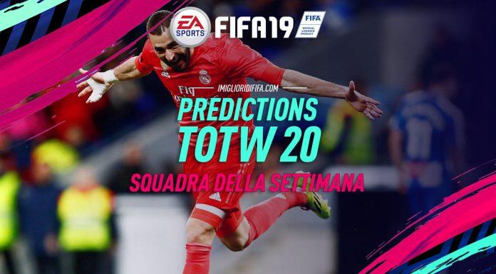 Prediction TOTW 20 Fifa 19
