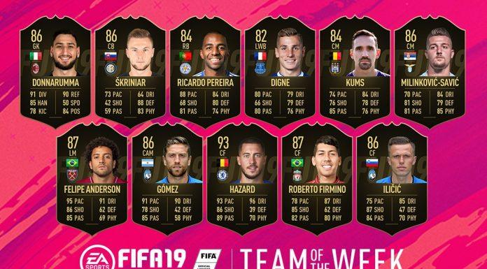 TOTW 16 FIFA 19