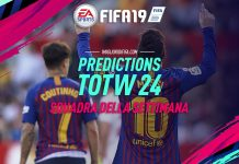TOTW 24 Prediction FIFA 19