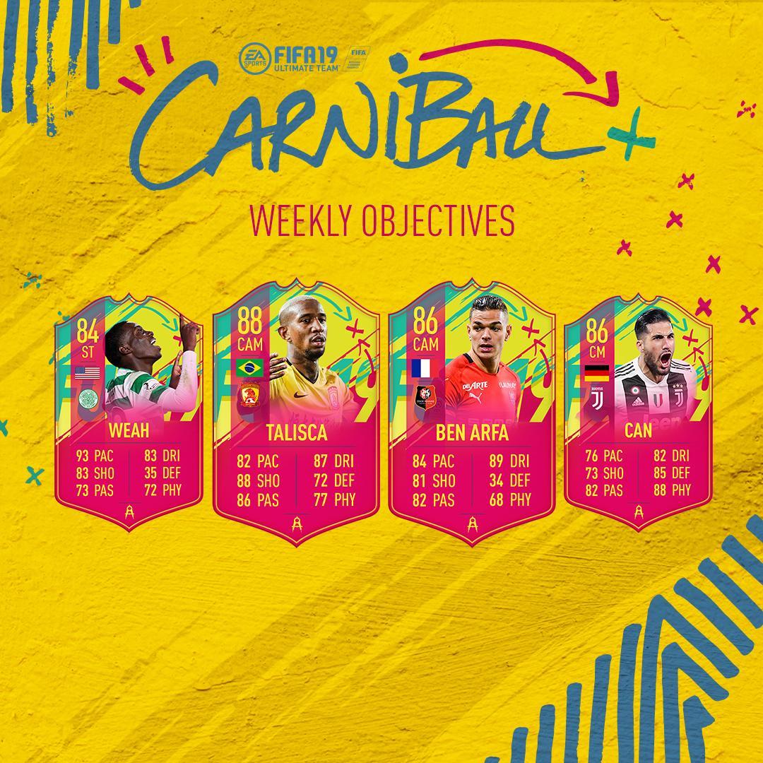 Carniball Obiettivi Settimanali
