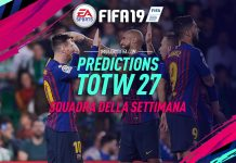 Prediction TOTW 27 FIFA 19