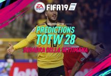 Prediction TOTW 28 FIFA 19