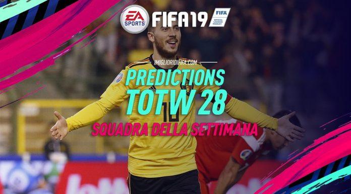 Prediction TOTW 28 FIFA 19