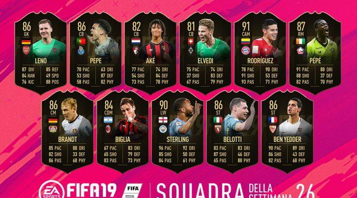 TOTW 26 FIFA 19