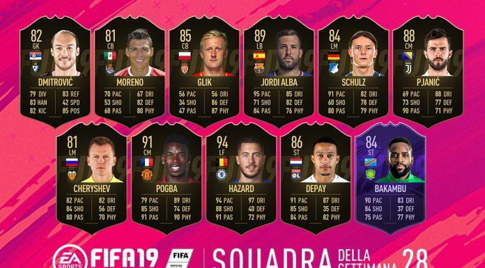 TOTW 28 FIFA 19