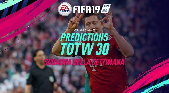TOTW 30 Prediction FIFA 19