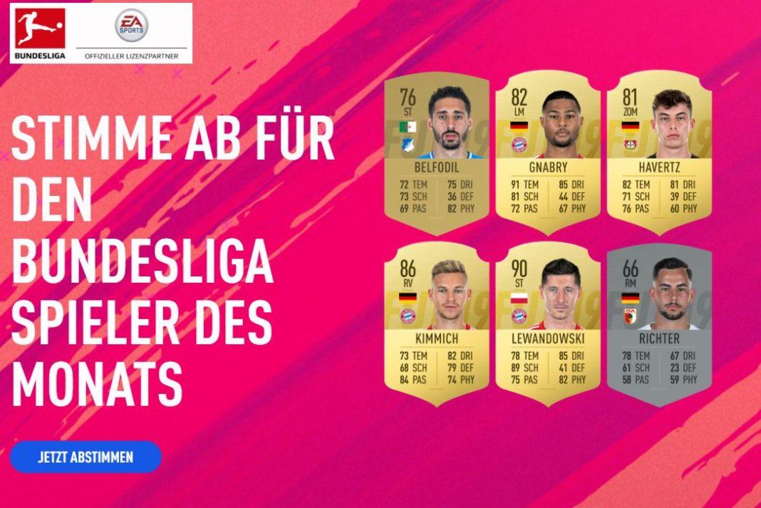 Candidati POTM Bundesliga Aprile