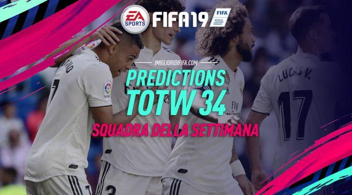 Prediction TOTW 34 FIFA 19