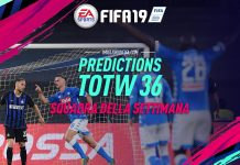 TOTW 36 Prediction FIFA 19