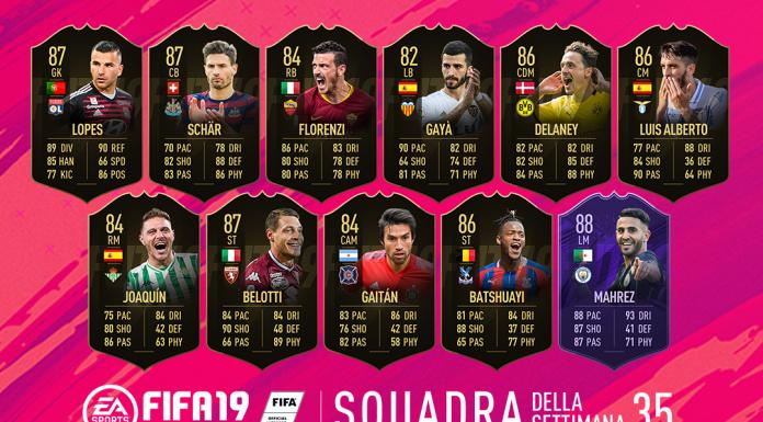 TOTW 35 FIFA 19 Squadra della Settimana