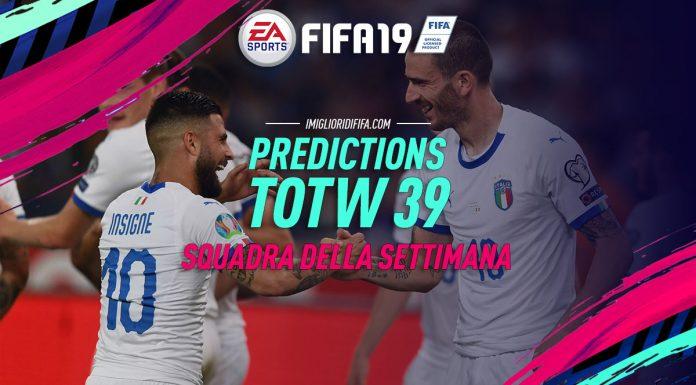 TOTW 39 Predictions FIFA 19