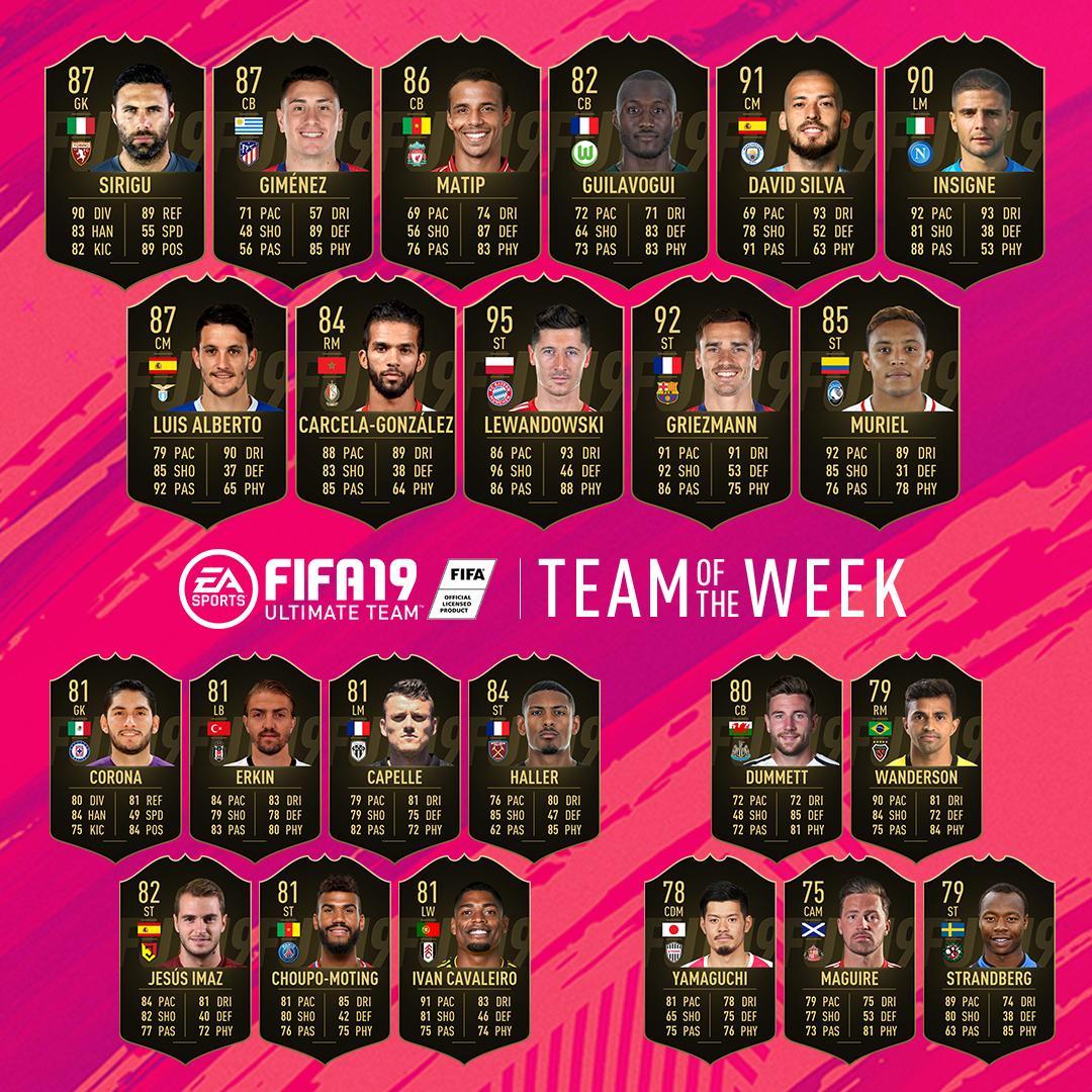 TOTW 44 FIFA 19