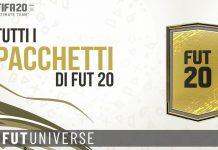 Pacchetti FUT 20 lista completa