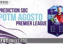 Prediction SBC POTM agosto Premier League