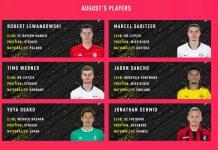 Candidati POTM Bundesliga Agosto