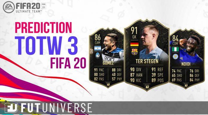 Prediction TOTW 3 FIFA 20