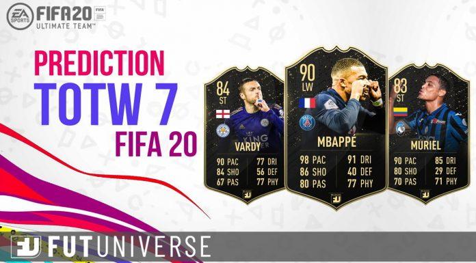 TOTW 7 Prediction FIFA 20