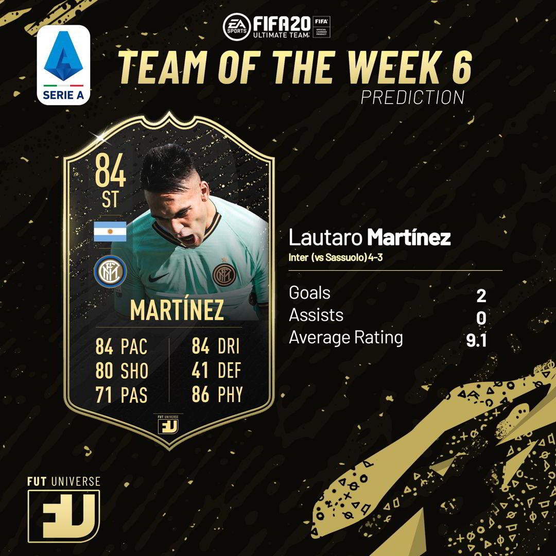 Lautaro Martinez TOTW 6