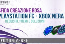 SBC Playstation FC Xbox Nera