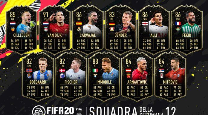 TOTW 12 FIFA 20