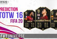 TOTW 16 Prediction FIFA 20