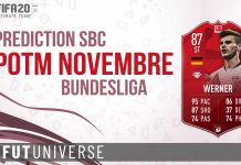 Prediction SBC POTM Nov Bundesliga Werner