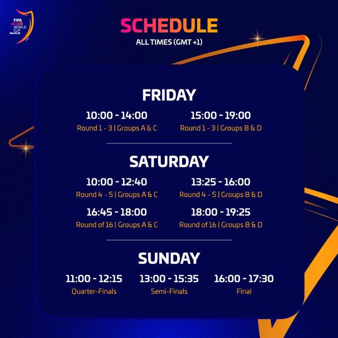 Programma  Fifa eClub World Cup