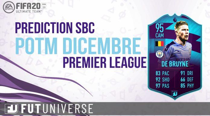 Prediction SBC POTM Dicembre Premier League De Bruyne