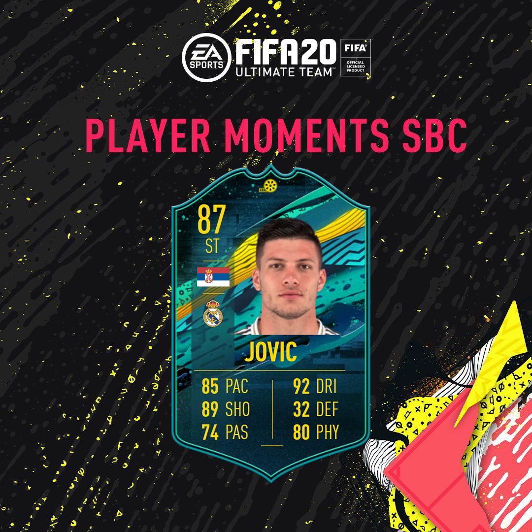 Fifa 20 SBC Jovic Momenti Giocatore - Le soluzioni!