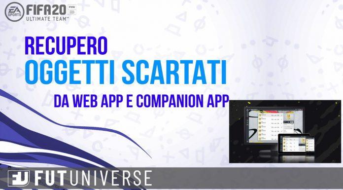 Recupero Oggetti Scartati FIFA 20 Web App e Companion App