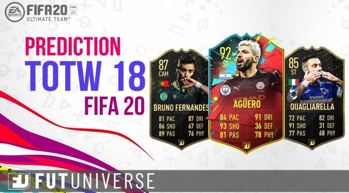 TOTW 18 Prediction FIFA 20