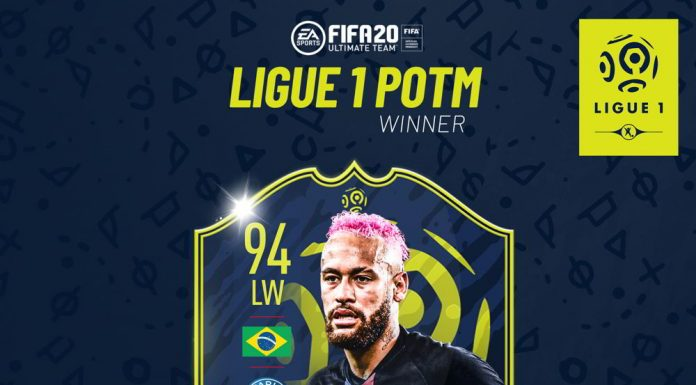 Neymar POTM Ligue 1