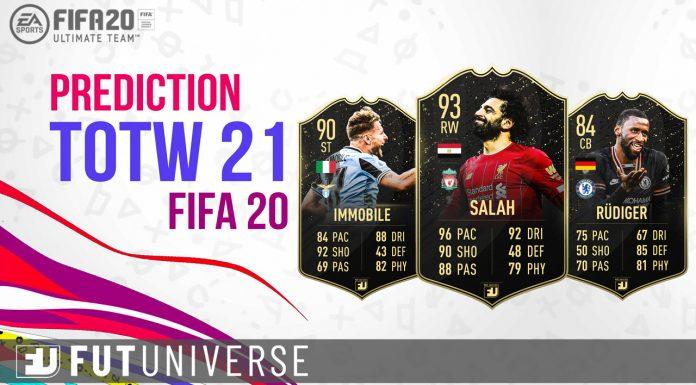 Prediction TOTW 21 FIFA 20