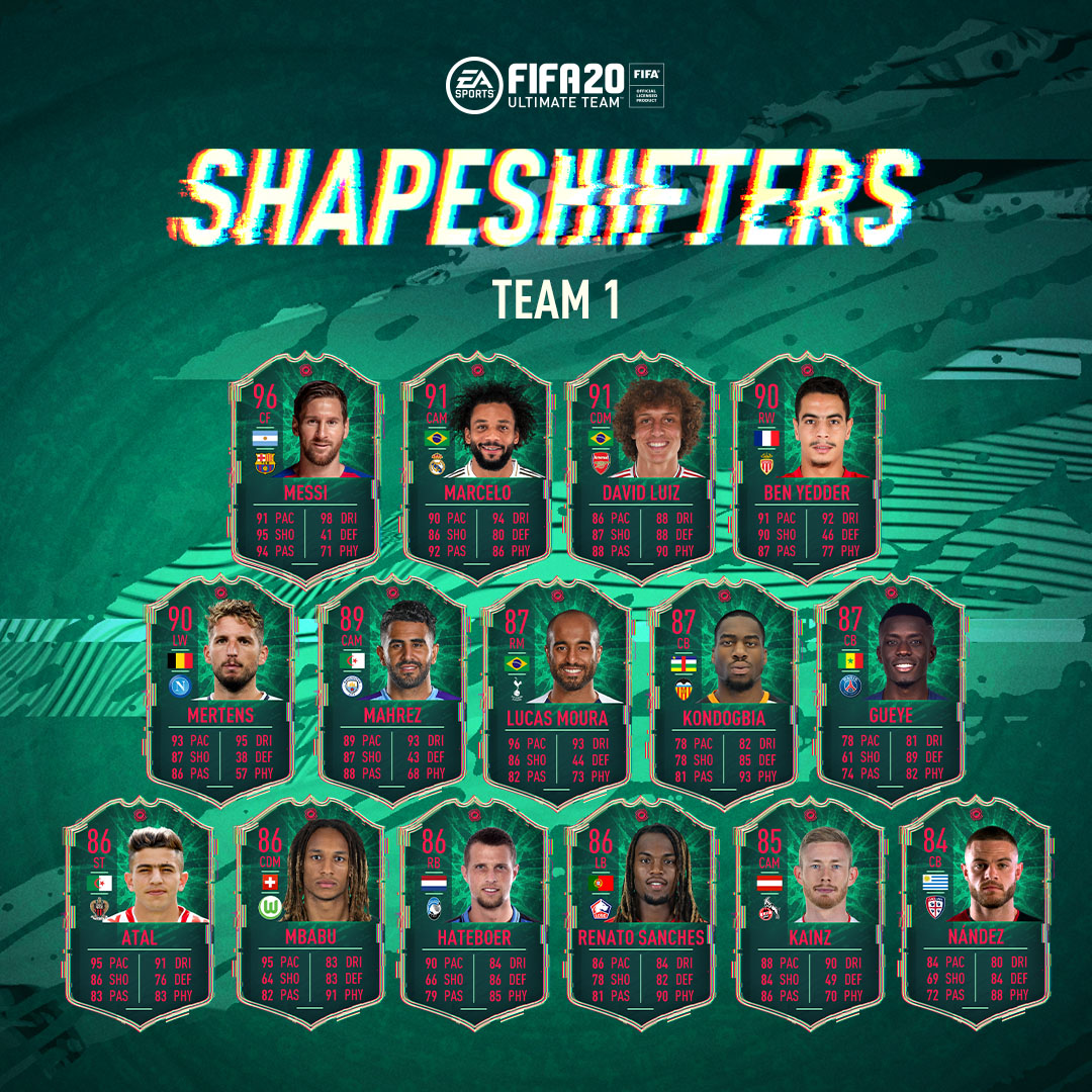 Shapeshifter Team 1