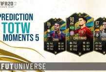 TOTW MOMENTS 5 PREDICTION