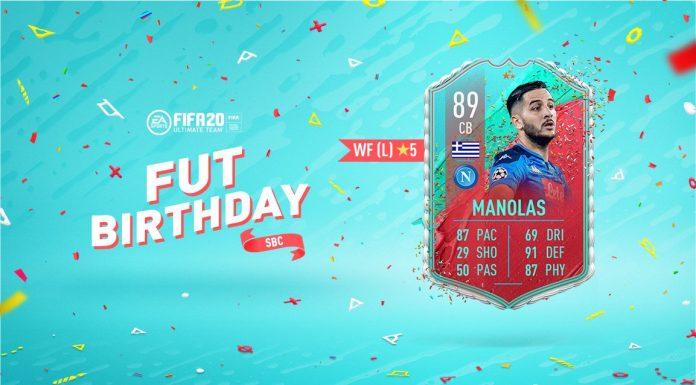 SBC Manolas FUT Birthday