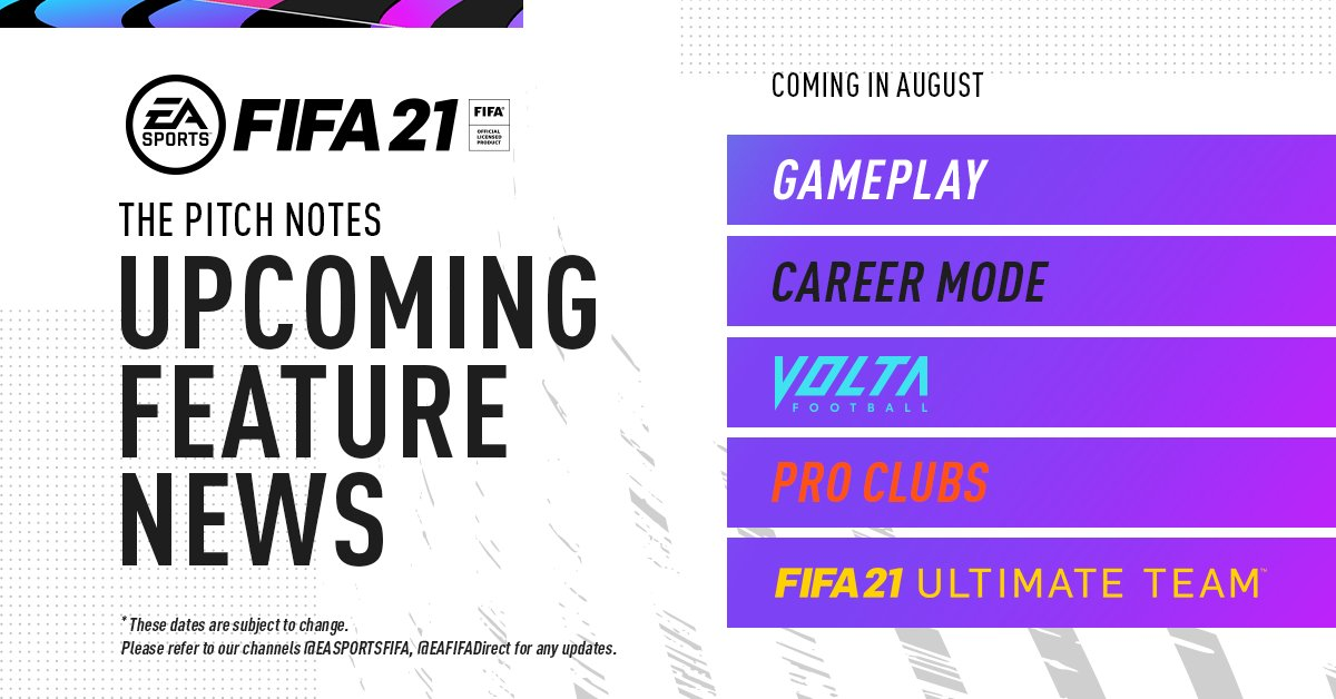 Fifa 21 Calendario Pitch Notes