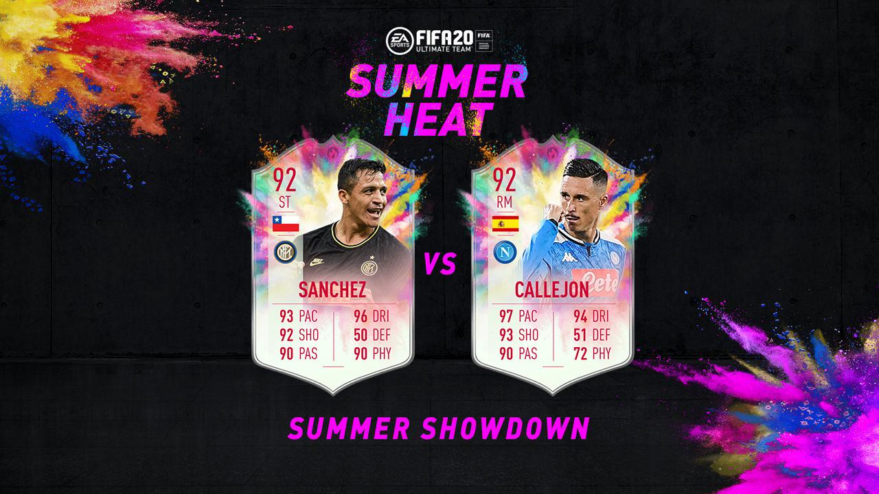 Callejon Sanchez FIFA 20 Summer Heat Summer Showdown