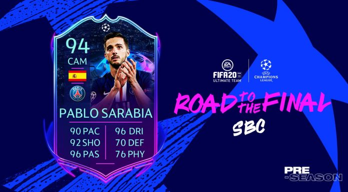 Pablo Sarabia Road to the FInal Fifa 20