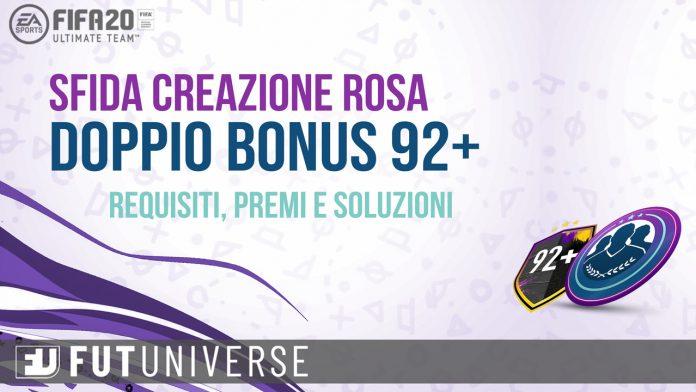 SBC Doppio Bonus 92+