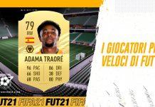 I giocatori più veloci di FUT 21 FIFA
