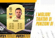 Migliori tiratori di punizioni in FIFA 21