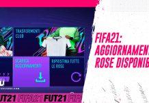 Aggiornamento Rose FIFA 21 disponibile