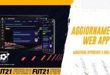 Aggiornamento Web App FIFA 21