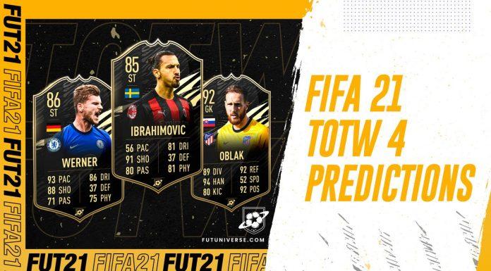 TOTW 4 Predictions FIFA 21