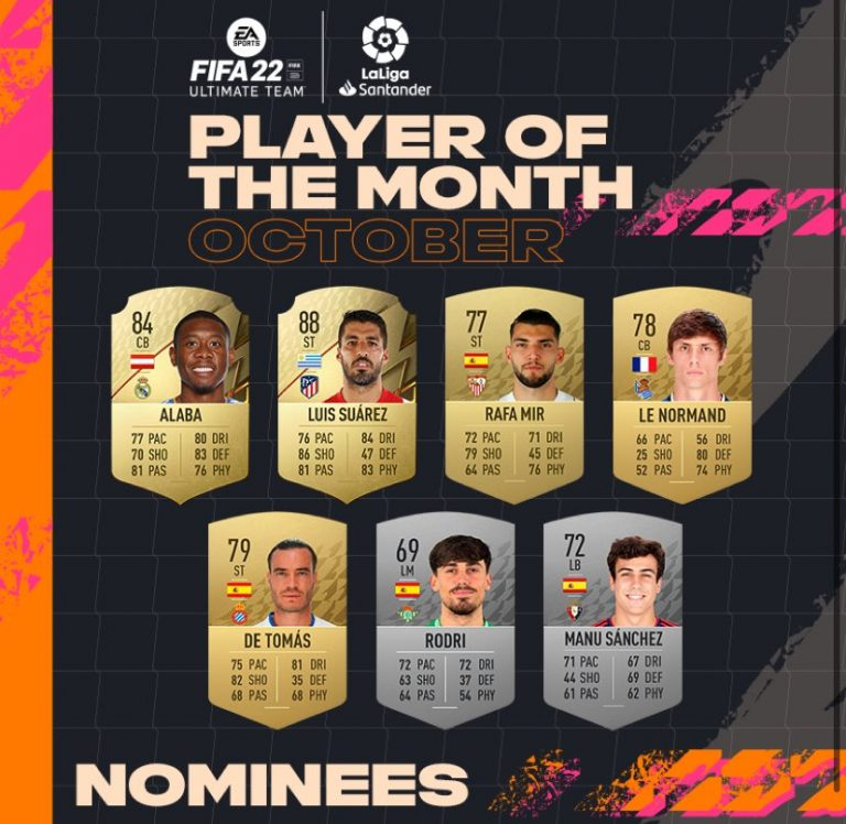 FIFA 22: candidati POTM ottobre LaLiga